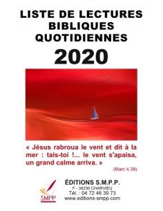 Liste de lectures bibliques 2020
