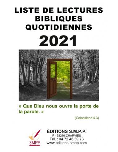 Liste de lectures bibliques 2021