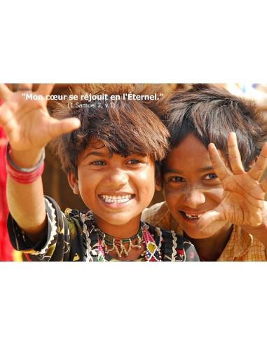 Carte postale - enfants souriants