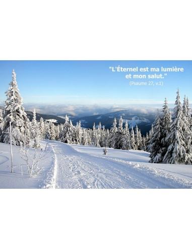 Carte postale - hiver