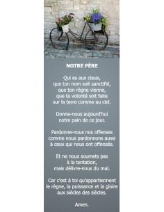 Signet vélo fleurie