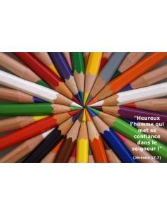 Carte postale - Crayons de couleur (réf. 0125)