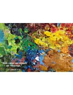 Carte postale - Palette d'artiste (réf. 0126)