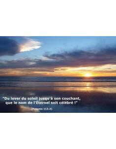 Carte postale - Crépuscule sur l'Atlantique (réf. 0144)