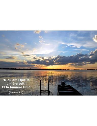 Carte postale - Fin de journée sur l'Amazone (réf. 0145)