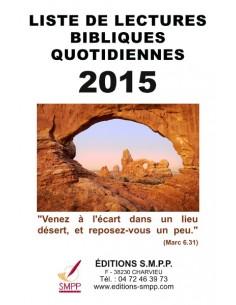 Liste de lectures bibliques 2015