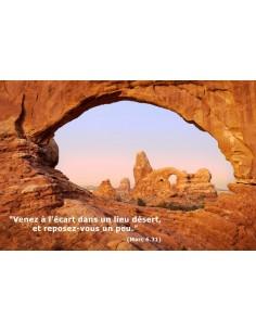 Carte postale - Fenêtre sur le désert (réf. 0174)