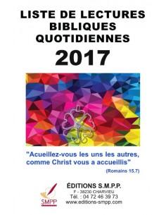 Liste de lectures bibliques 2017
