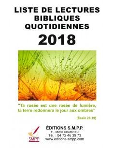Liste de lectures bibliques 2018