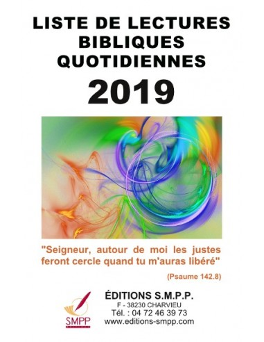 Liste de lectures bibliques 2019